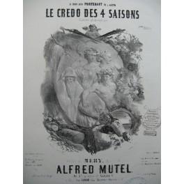 MUTEL Alfred Le Credo des 4 saisons Nanteuil Chant Piano XIXe
