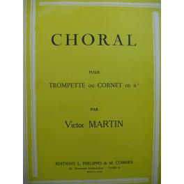 MARTIN Victor Choral Trompette ou Cornet Piano 1960