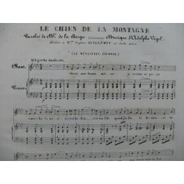 VOGEL Adolphe Le Chien de la Montagne Chant Piano 1835
