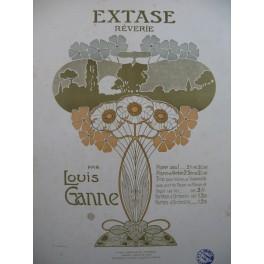 GANNE Louis Extase Rêverie Piano Violon Violoncelle Orgue ca1890