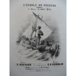 GERMAIN E. S. L'Etoile du Pêcheur Chant Piano ca1840
