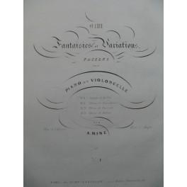 MINÉ A. Fantaisie sur Norma de Bellini Piano Violoncelle ca1840