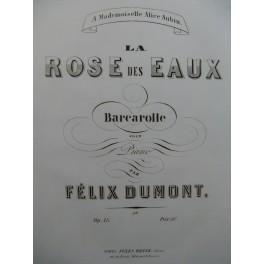 DUMONT Félix La Rose des Eaux Piano XIXe siècle
