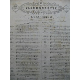 CLAPISSON Louis La Fanchonnette No 2 bis Romance Chant Piano XIXe