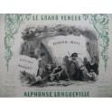 LONGUEVILLE Alphonse Le Grand Veneur Quadrille de Chasse Nanteuil Piano 1853