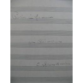 LEJEUNE-BONNIER Eliane Prière en Fa mineur Manuscrit Orgue seul ou Orgue Violoncelle 1943