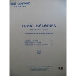 CAMPAGNE René Trois Mélodies No 1 Amour Chant Harpe