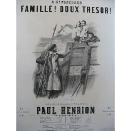 HENRION Paul Famille Doux Trésor Chant Piano 1850