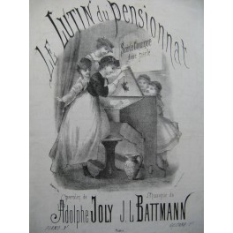BATTMANN J. L. Le Lutin du Pensionnat Chant Piano XIXe