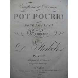 STEIBELT Daniel Pot Pourri No 20 pour Piano ca1805