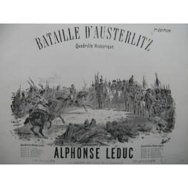 LEDUC Alphonse Bataille d'Austerlitz Piano XIXe siècle