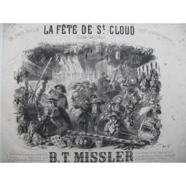MISSLER B. T. La Fête de St Cloud Piano 1861