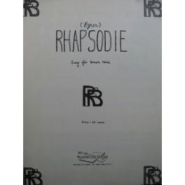 FAIRFAX BIRCH Robert Rhapsodie Chant Piano 1959