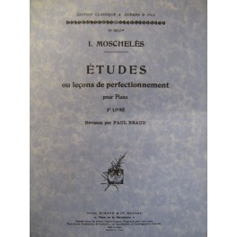 MOSCHELES Ignace Etudes piano Livre 2