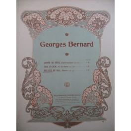 BERNARD Georges Delices de Bal Rêverie Piano 1907