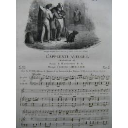 LHUILLIER Edmond L'Apprenti Aveugle Chant Piano ca1830