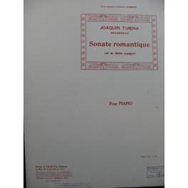 TURINA Joaquin Sonate Romantique Piano 1910