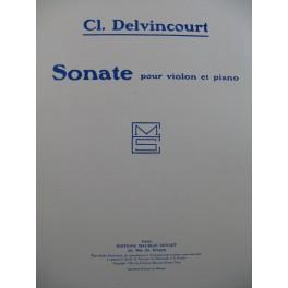 DELVINCOURT Claude Sonate Dédicace Violon Piano 1923