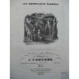 CONCONE Joseph Les Orphelines égarées Chant Piano ca1845