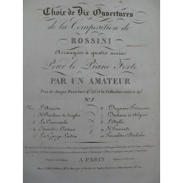ROSSINI G. La Gazza Ladra Ouverture Piano 4 mains ca1820