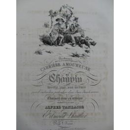 LHUILLIER Edmond La Carrière Amoureuse de Chauvin Chant Piano ca1830