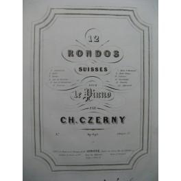 CZERNY Ch. Rondo Suisse No 5 Lac de Constance Piano ca1843