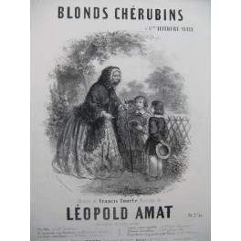AMAT Léopold Blonds Chérubins Chant Piano ca1850