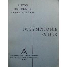 BRUCKNER Anton Symphonie No 4 Es dur Orchestre 1953