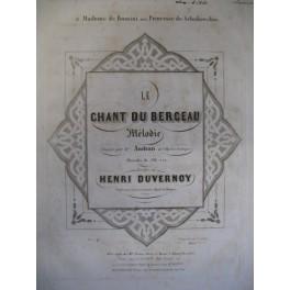 DUVERNOY Henry Le Chant du Berceau chant piano