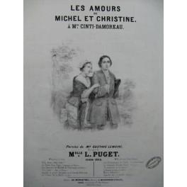 PUGET Loisa Les Amours de Michel et Christine Chant Piano 1844