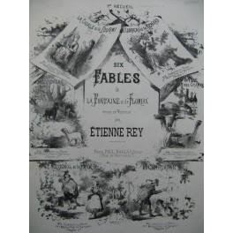 REY Etienne La Cigale et la Fourmi Fable de la Fontaine Piano ca1870