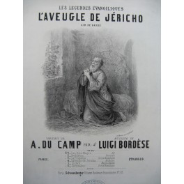 BORDESE Luigi L'Aveugle de Jéricho Chant Piano ca1860