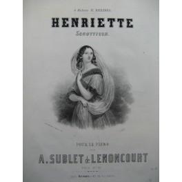 SUBLET de LENONCOURT A. Henriette Piano ca1850