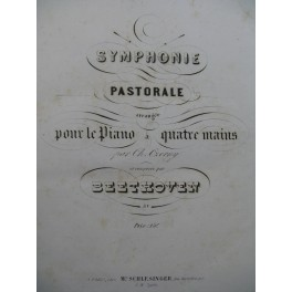 BEETHOVEN Symphonie No 6 Pastorale Czerny Piano 4 mains ca1845