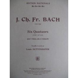 BACH Johann Christoph Friedrich 6 Quatuors vol 1