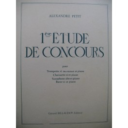 PETIT Alexandre Etude de Concours No 1 Cornet Piano