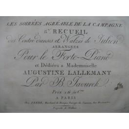 JAVUREK B. Recueil No 12 de Contredanses et Valses de Julien Danse Piano ca1810