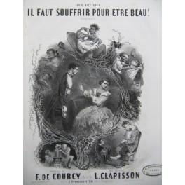 CLAPISSON Louis Il faut souffrir pour être beau Nanteuil Chant Piano ca1840