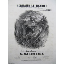 MARQUERIE A. Fernand le Bandit Chant Piano ca1840