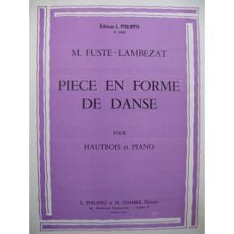 FUSTE-LAMBEZAT M. Pièce en forme de Danse Hautbois Piano 1960