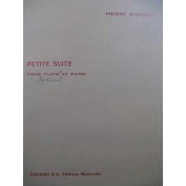 BÜSSER Henri Petite Suite Piano Flûte ou Violon