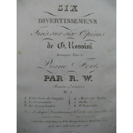 ROSSINI G. Il Barbiere di Siviglia Ouverture Piano ca1820