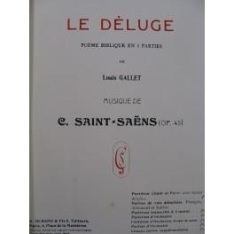 SAINT-SAËNS Camille Le Déluge Opéra Piano Chant ca1890