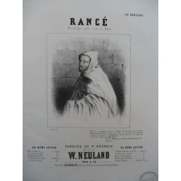 NEULAND W. Rancé Chant Piano ca1845