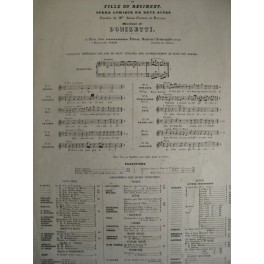 DONIZETTI Gaetano La Fille du régiment chant piano ca1850