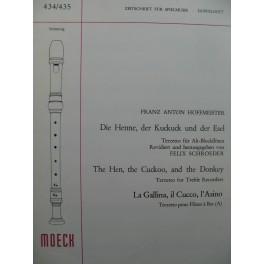 HOFFMEISTER Franz Anton La Gallina Il Cucco L'Asino Trio Flûtes à bec 1975