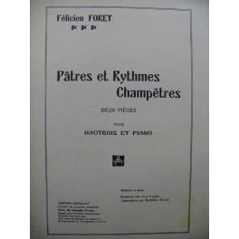 FORET Félicien Pâtres et Rythmes Champêtres Piano Saxophone 1947