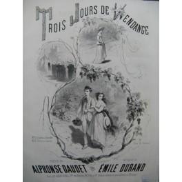 DURAND Emile Trois Jours de Vendange Chant Piano ca1850