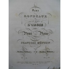 HÜNTEN François Rondeau Militaire Piano ca1832