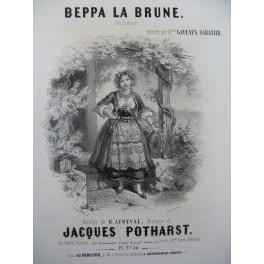 POTHARST Jacques Beppa la Brune Chant Piano ca1850
